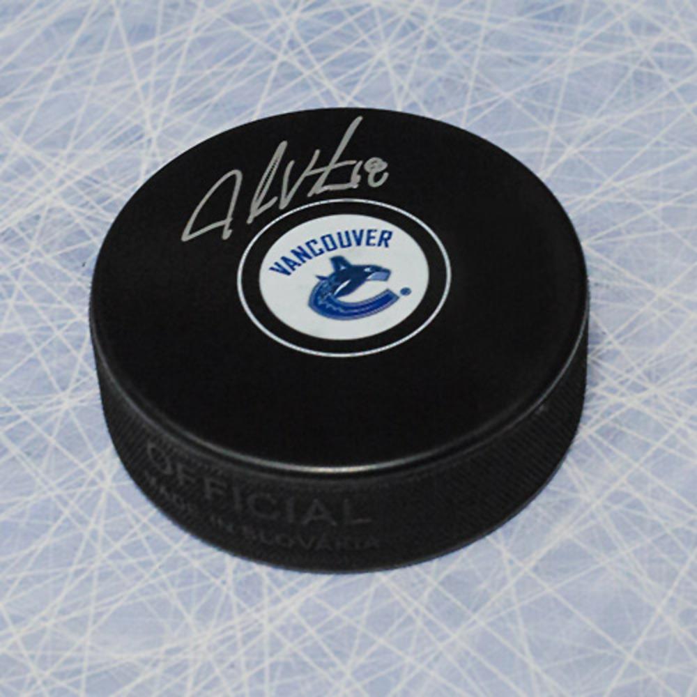 Jake Virtanen Vancouver Canucks Autographed Hockey Puck