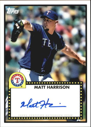 Photo of 2011 Topps Lineage 1952 Autographs #52AMH Matt Harrison