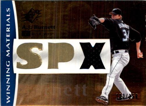 Photo of 2008 SPx Winning Materials SPx 150 #AB A.J. Burnett