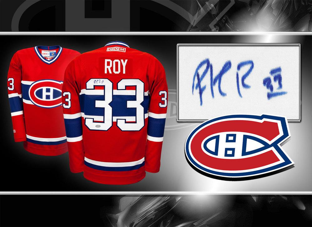 Patrick Roy Montreal Canadiens CCM Autographed Jersey
