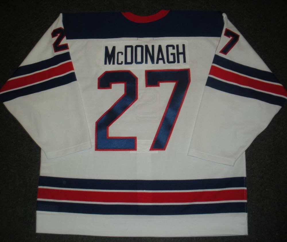 Ryan McDonagh - Sochi 2014 - Winter Olympic Games - Team USA Throwback Game-Worn Jersey - Worn in 2nd and 3rd Periods vs. Slovenia, 2/16/14