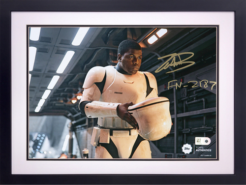 John Boyega as FN-2187 on the Finalizer Autographed in Gold Ink Inscribed
