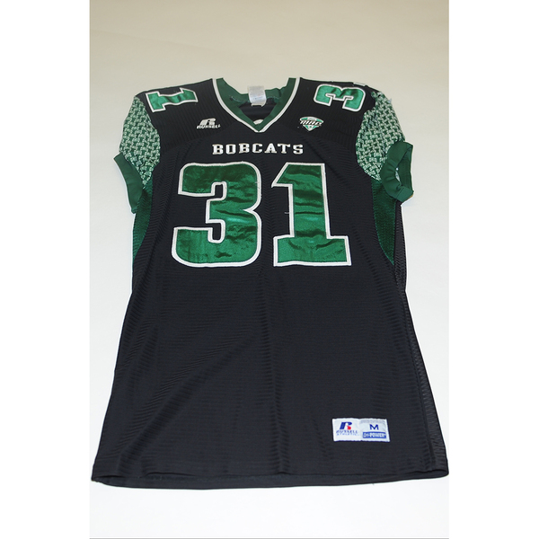Photo of # 31 - Official OHIO BOBCATS Game Worn Football Jersey (2011) - SIZE MEDIUM