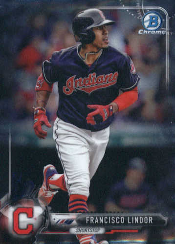 Photo of 2017 Bowman Chrome #23 Francisco Lindor -- Indians post-season