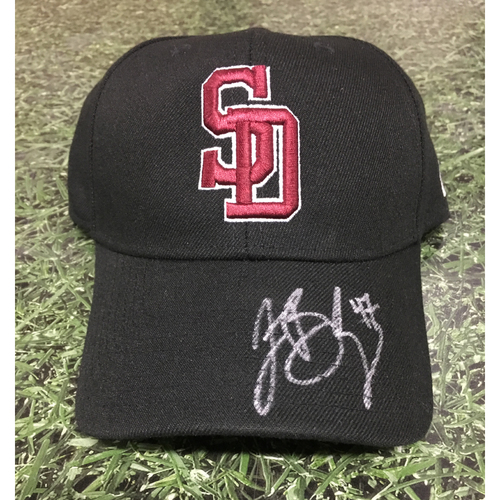 Photo of Jett Bandy Autographed Stoneman Douglas Eagles Cap - Not MLB Authenticated