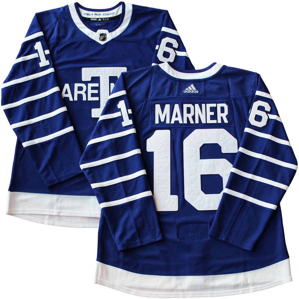 detailed look e7c3d f62b2 Mitch Marner Jersey Toronto Arenas Adidas Pro Blue 17-18 ...