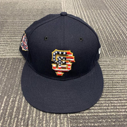 Photo of End of Year Auction - 2018 Team Issued Cap - 4th of July - size 7 1/8 - worn by #10 Evan Longoria