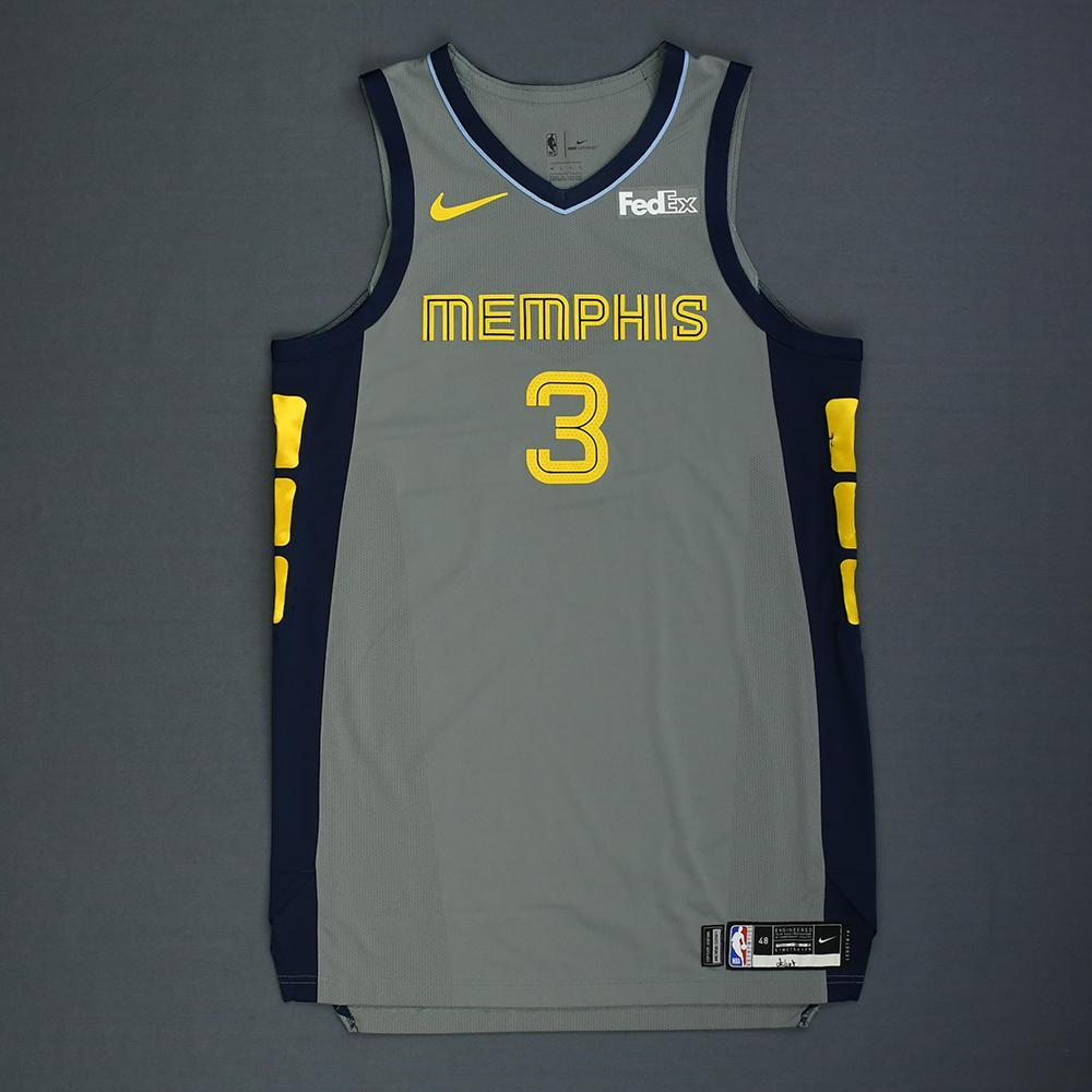 c92b187cd75 Jevon Carter - Memphis Grizzlies - Rookie-Debut - Game-Worn City Edition  Jersey