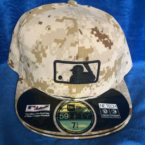 Photo of UMPS CARE AUCTION: MLB Specialty Tan Camo Umpire Plate Cap, Size 7 1/2