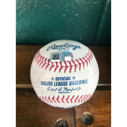 Photo of Cardinals Authentics: Game Used Baseball Pitched by Jordan Hicks to Mike Trout and Justin Upton *Trout Strikeout, Upton Foul*