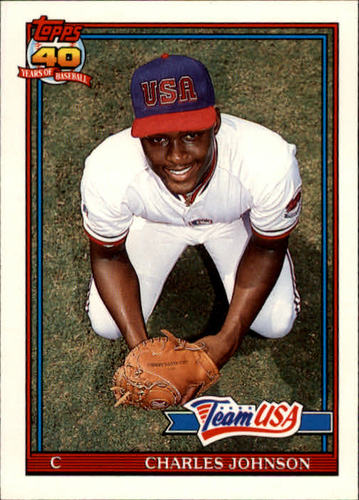 Photo of 1991 Topps Traded #61T Charles Johnson USA RC