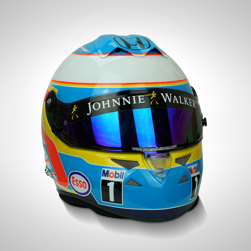 Photo of Fernando Alonso 2015 Race-used Helmet