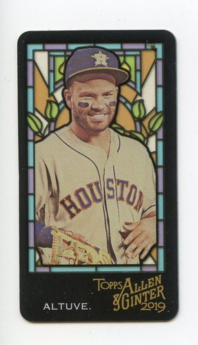 Photo of 2019 Topps Allen and Ginter Mini Stained Glass #28 Jose Altuve