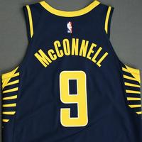 T.J. McConnell - Indiana Pacers - Game-Worn Icon Edition Jersey - NBA India Games - 2019-20 NBA Season