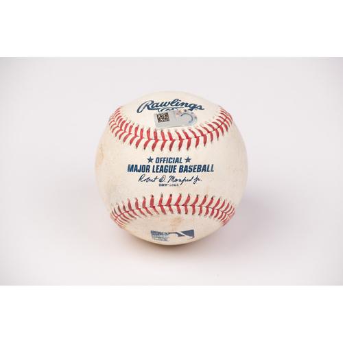 Photo of Game Used Baseball: Pitcher: Dinelson Lamet, Batters: Albert Pujols (Strike Out), Andrelton Simmons (Single) - Bot 2 -  9-2-2020 vs. SD