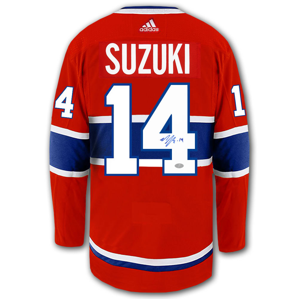Nick Suzuki Montreal Canadiens Adidas Pro Autographed Jersey - NHL ...