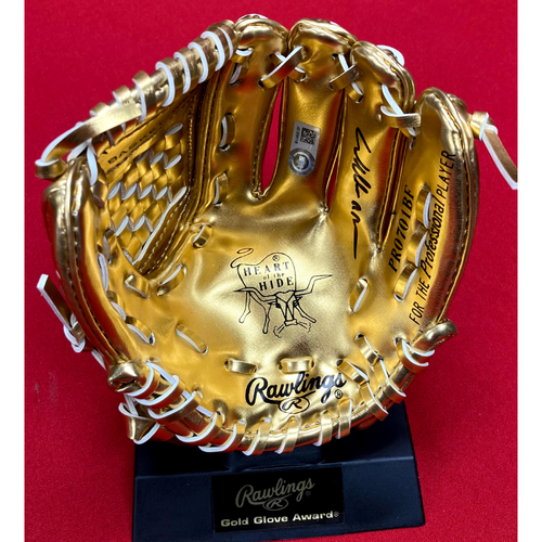 Photo of Willie McGee Autographed Mini Gold Glove