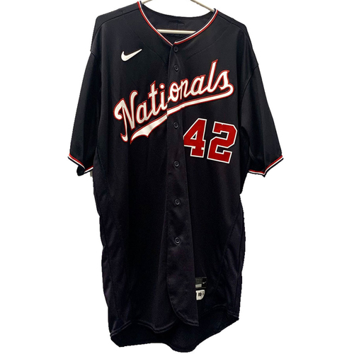Photo of Daniel Hudson - Jackie Robinson Day Autographed Game Worn Jersey - Size 48