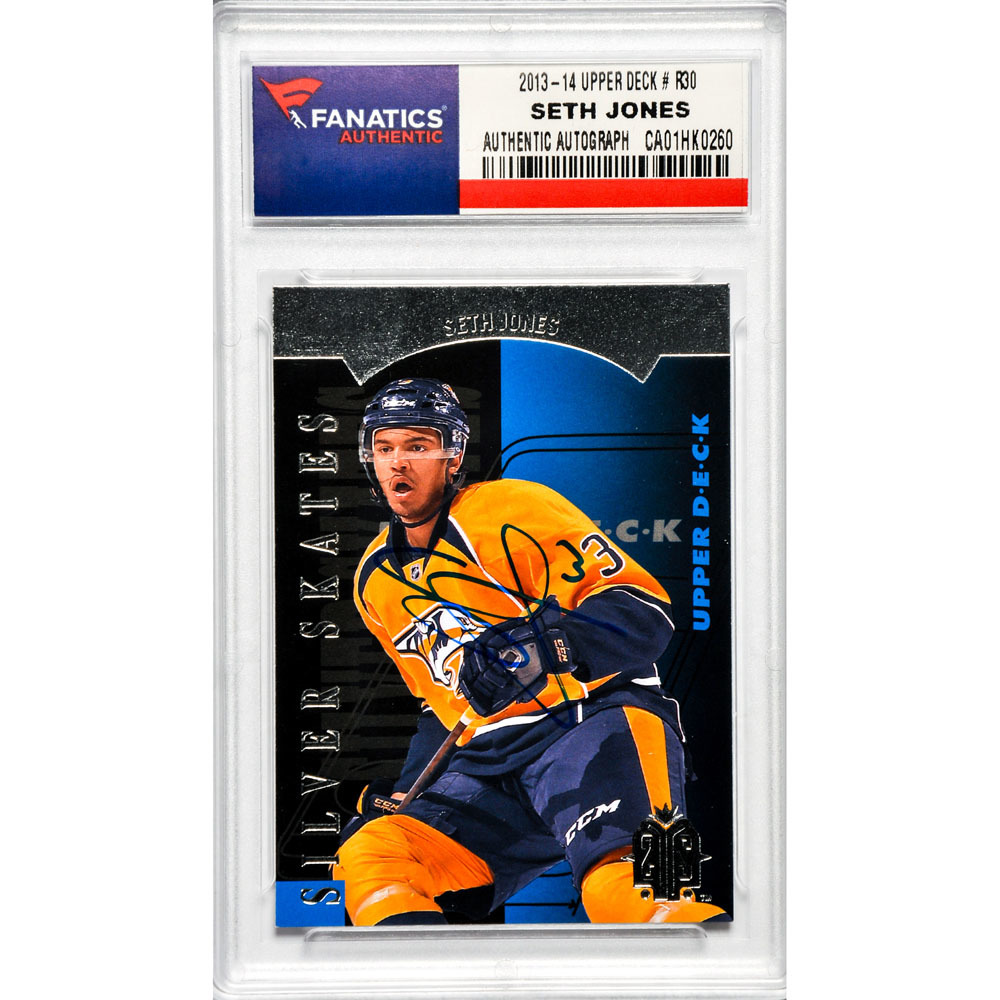 Seth Jones Nashville Predators Autographed 2013-14 Upper Deck Silver Skates #R30 Card