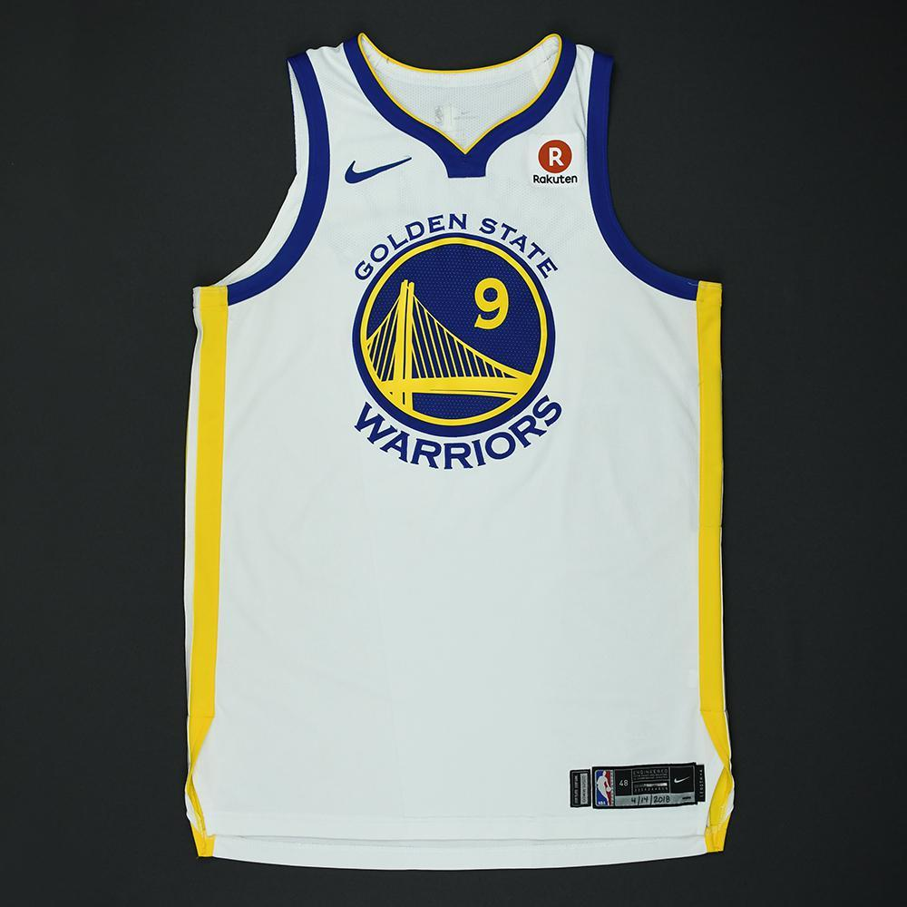 Andre Iguodala - Golden State Warriors - 2018 NBA Playoffs Game-Worn Jersey
