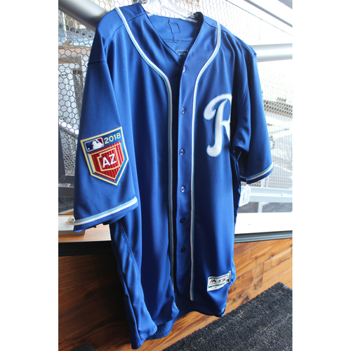Photo of Team-Issued Spring Training Jersey: Salvador Perez (Size 48)
