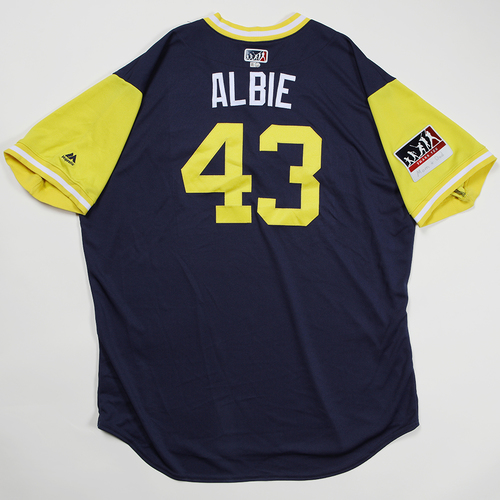 "Photo of Matt ""Albie"" Albers Milwaukee Brewers Game-Used 2018 Players' Weekend Jersey"