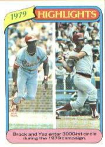 Photo of 1980 Topps #1 Lou Brock HL/Carl Yastrzemski