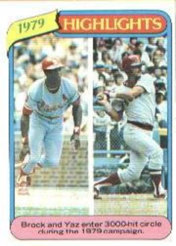 Photo of 1980 Topps #1 Lou Brock HL/Carl Yastrzemski
