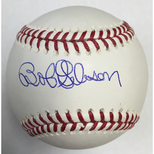 Photo of Bob Gibson Autographed Baseball