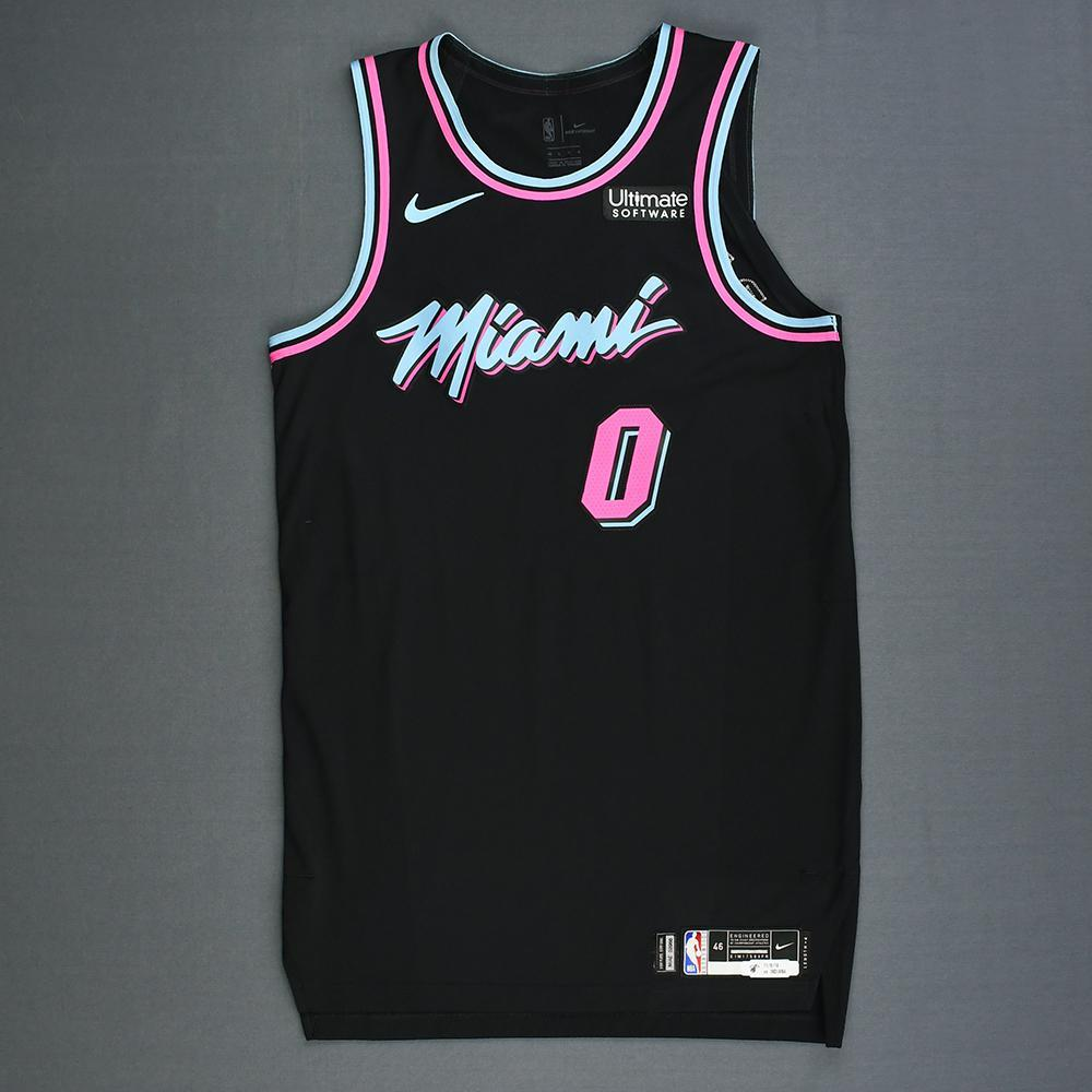 size 40 6e2ee 633b1 Josh Richardson - Miami Heat - Game-Worn City Edition Jersey ...
