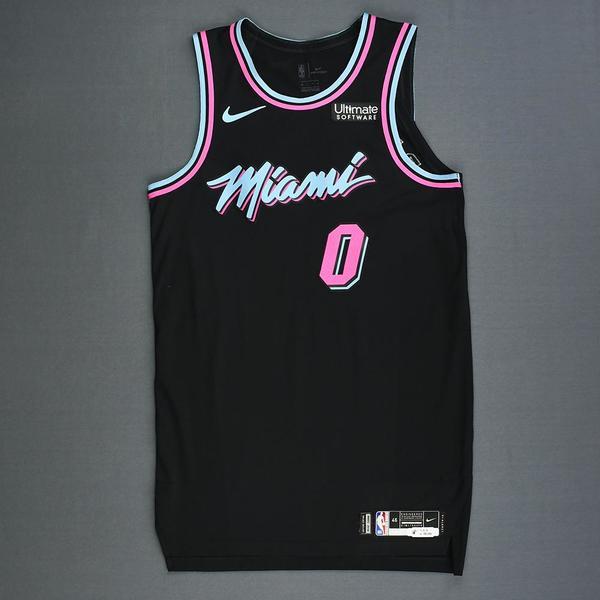 Josh Richardson - Miami Heat - Game-Worn City Edition Jersey ...