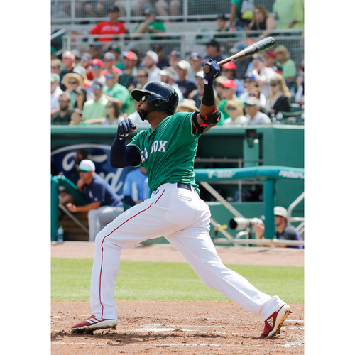 Photo of Red Sox Foundation St. Patrick's Day - Eduardo Nunez Game-Used and Autographed Jersey