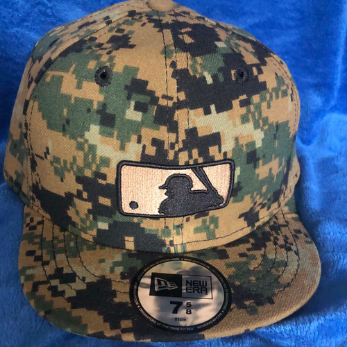 Photo of UMPS CARE AUCTION: MLB Specialty Green Camo Umpire Plate Cap, Size 7 5/8