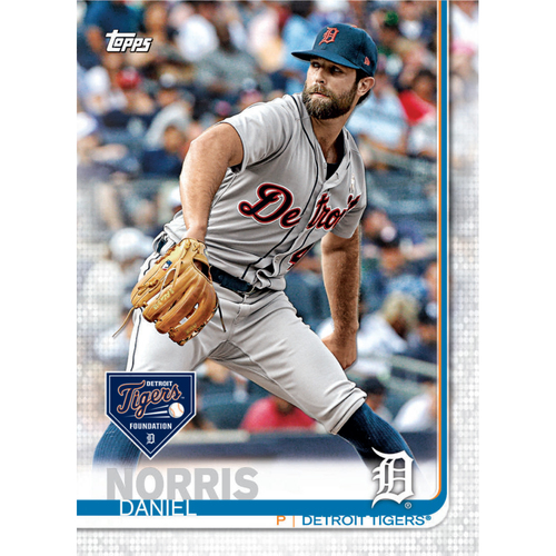 Photo of Autographs for a Cause: Daniel Norris Autographed Limited Edition 2019 Topps Detroit Tigers Baseball Card