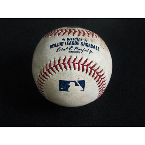 Photo of Game Used Baseball: Pitcher: Yusei Kikuchi, Batters: Khris Davis (Strikeout), Stephen Piscotty (Foul)- 5/13/19 vs. OAK
