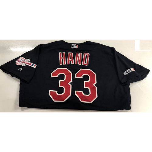Photo of Brad Hand Game Used 2019 Opening Day Jersey 3/28/19