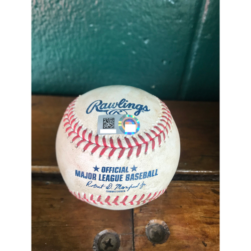 Photo of Cardinals Authentics: Game Used Baseball Pitched by Dakota Hudson to Shohei Ohtani, Tommy La Stella, and Mike Trout *Fielder's Choice Ohtani, La Stella Single, Trout Single