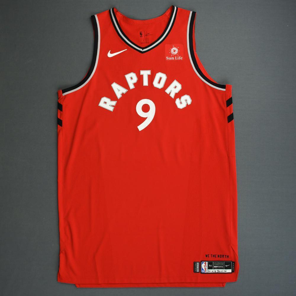 Serge Ibaka - Toronto Raptors - 2018-19 Season - Canada Series - Game-Worn Red Icon Edition Jersey