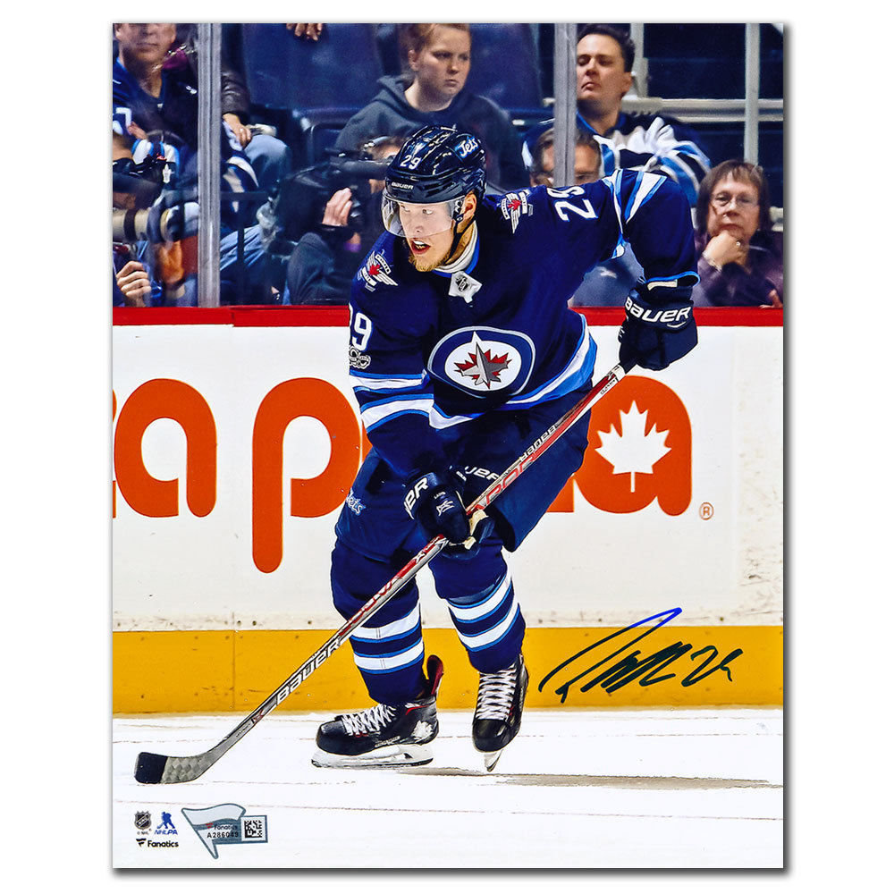 Patrik Laine Winnipeg Jets RUSH Autographed 8x10