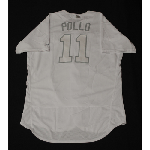 "Photo of A.J. ""Pollo"" Pollock Los Angeles Dodgers Game-Used 2019 Players' Weekend Jersey - Size 46"