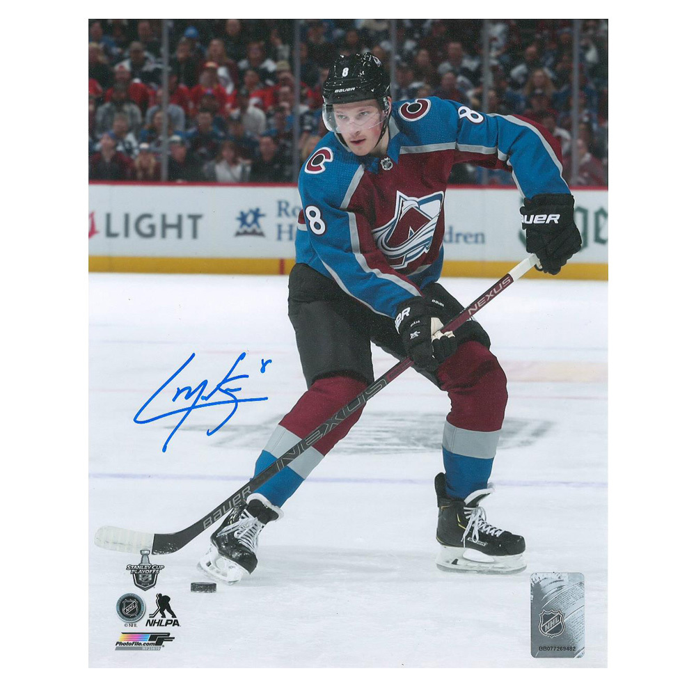 CALE MAKAR Signed Colorado Avalanche 16 X 20 Photo - 79230