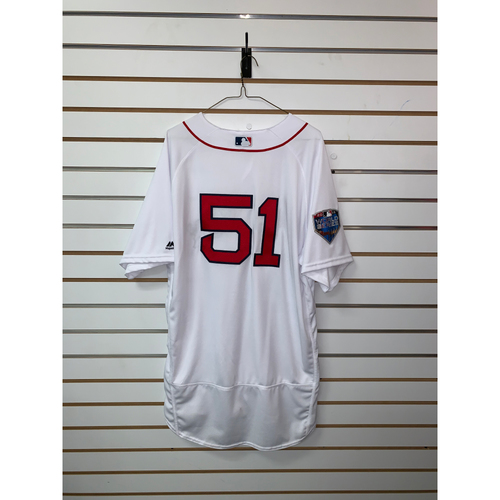 Photo of Tim Hyers Team Issued 2018 World Series Home Jersey