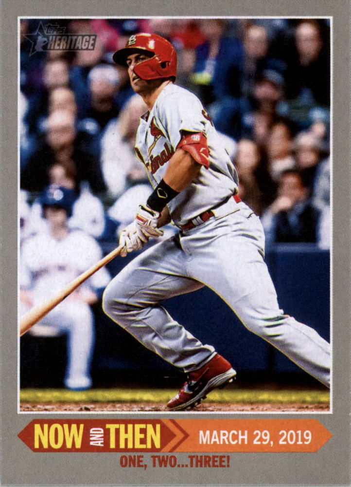 2019 Topps Heritage Now and Then #NT1 Paul Goldschmidt