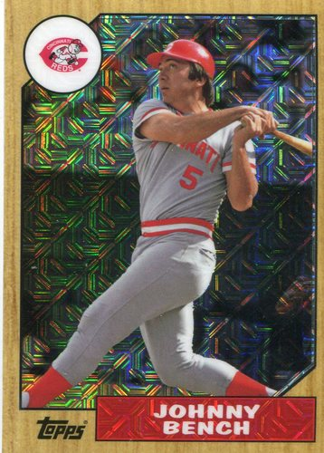 Photo of 2017 Topps '87 Topps Silver Pack Chrome #87JBE Johnny Bench S2