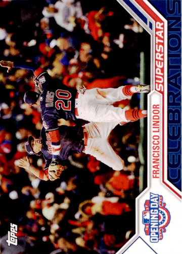 Photo of 2017 Topps Opening Day Superstar Celebrations #SC5 Francisco Lindor
