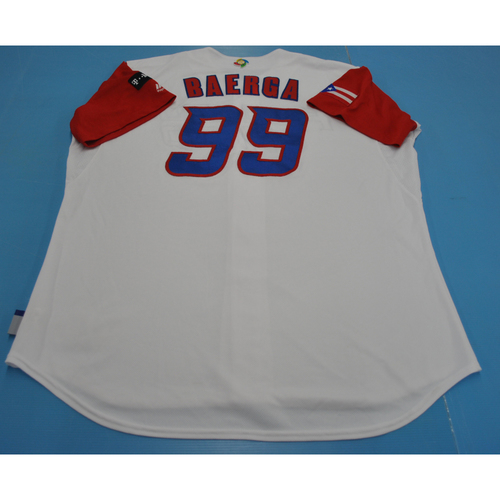 Photo of Game-Used Jersey - 2017 World Baseball Classic - Puerto Rico - Carlos Baerga - 52