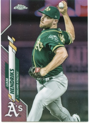 Photo of 2020 Topps Chrome Pink Refractors #2 Liam Hendriks