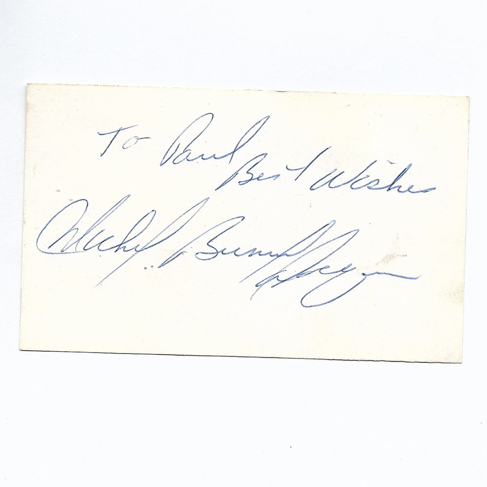 Michel 'Bunny' Larocque Autographed & Personalized Index Card