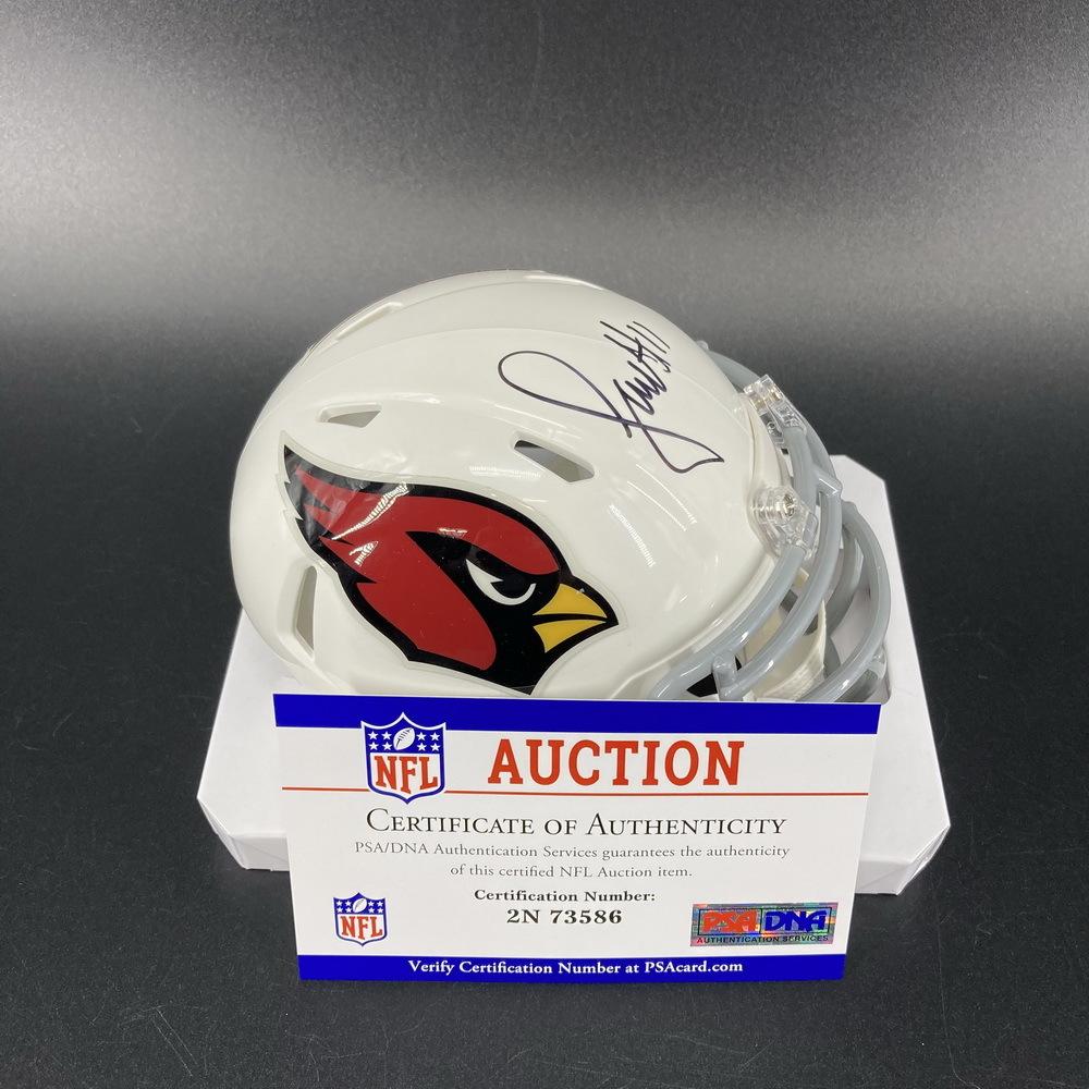 Legends - Cardinals Larry Fitzgerald Signed Mini Helmet