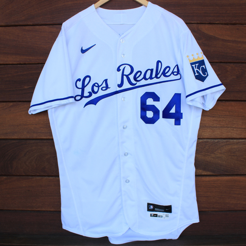 Photo of Game-Used Los Reales Jersey: Scott Blewett #64 (SEA@KC 9/17/21) - Size 44